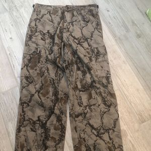 Liberty Vintage Brown Camouflage Cargo Pants